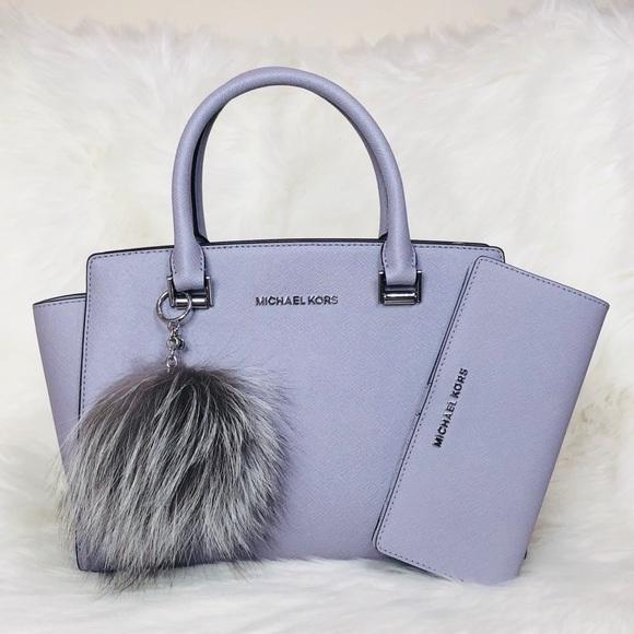 Michael Kors Handbags - 3PCS Michael Kors Selma Satchel Wallet Charms